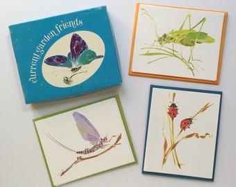 Current Garden Friends Cards set of 9 blank