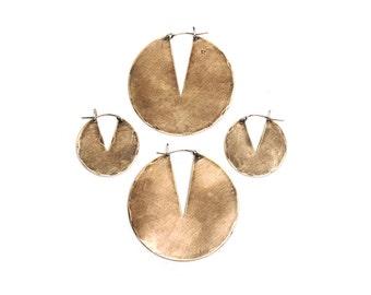 Gate Earrings // Geometric Hoops