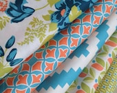 Floral Fabric, Modern Fabric Bundle of 5, Tribal fabric by Joel Dewberry, Cotton Fabric,  Quilt fabric, Free Shipping Available
