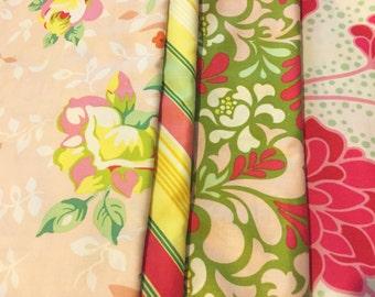 Pop Garden Heather Bailey Scraps/Yardage Destash Assortment Lot Flat Rate Shipping Perfect For Quilt Making