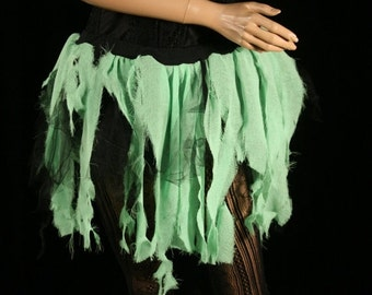 SALE Adult tutu skirt Toxic trash Zombie Halloween creepy party costume bio hazard witch - Small - READY TO Ship- Sisters of the Moon