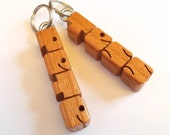Cherry Wood MiniTag - Name and Gift Tag - Custom Made to Order