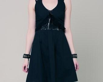 Little black dress, black dress, babyboll dress, leather dress, cotton dress, punk dress, gothic dress, black mini dress, halter dress