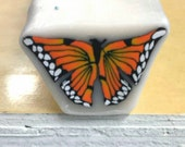 Monarch Butterfly Cane, Polymer Clay Flutterby Raw Cane e517