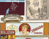 57 1930's plus Unused CIGAR Box LABELS / TOBACCO