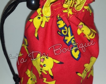 Pokemon Round Bottom Drawstring / Dice Bag
