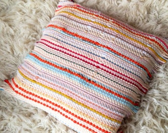 Vintage soft Woven rug pillow cover modern rustic home decor throw cushion stripes