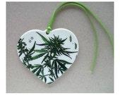 Cannabis heart ornament, cannabis gift,marijuana keepsake, marijuana sweetheart, marijuana gift, Cannabis Sativa ornament,marijuana ornament