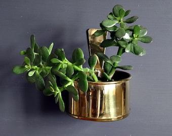Brass Wall Pocket Hanging Planter