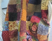 FlASH SALE Patchwork Quilt, Quilted Blanket, Large Lap Throw Blanket - Designers Medley - Kaffe Fassett, Moda, Others! Ready To Ship