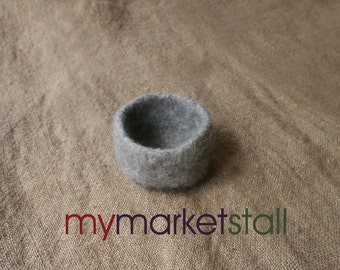 Grey Lopi Felted Bowl - In Stock -  Ready to Ship