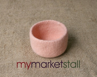 Pale Salmon Felted Bowl - Ready to Ship