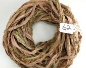 RESERVED FOR VICTORIA Recycled Silk Sari Ribbon, brown sari ribbon, Sari silk ribbon, fuzzy sari ribbon, brown ribbon, Driftwood sari ribbon