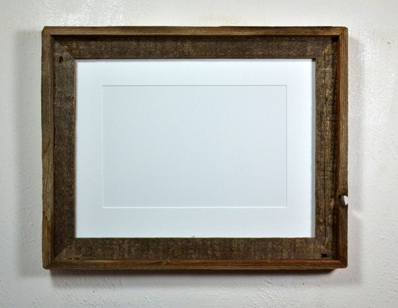 12x16 Frame From Reclaimed Wood With Beautiful Patina And