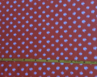 """NEW Abstract Group White Stipple Dot on Orange cotton lycra 95/5 58"""" wide sold per yard"""