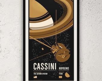 Cassini - Robotic Spacecraft Screenprint Series