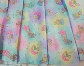 Skater skirt, teddy bear spandex moon and stars fairy pop kei size S small