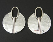 Hammered Antique Silver Earring Finding Round Textured Dangle Jewelry Component |S14-14|2