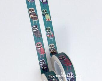 Owl Washi Tape • Owl Decorative Tape • Owl Love