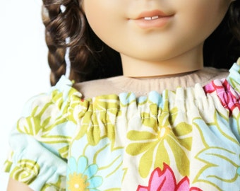 Fits like American Girl Doll Clothes - Lei Breeze Peasant Top and Pale Pink Leggings