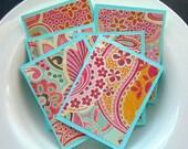 Glitter Paisley and Flowers Mini Card Set