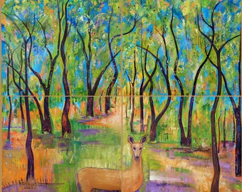 Our Enchanted Bosque - Tree Art, a print
