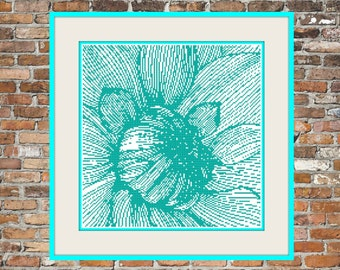 One Color Dahlia - a Counted Cross Stitch Pattern