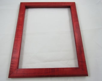 11x14 Curly Maple with Red Dye Picture Frame RR1