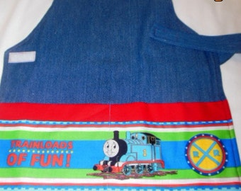 Thomas the Train Montessori Style Crafting/Cooking/pPainting/ Apron