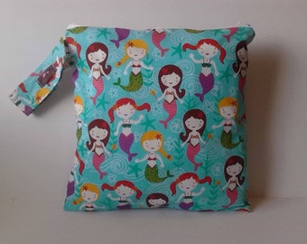 Wet Bag -Free Shipping On Second Item - Mermaids
