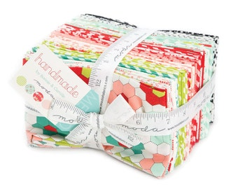 SALE 40 Fat Eighths 1/8 - HANDMADE fabric bundle  Moda by Bonnie & Camille