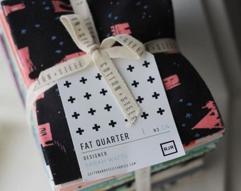 SALE 18 Fat Quarters - FROM PORTO with LoVE fabric bundle Cotton and Steel by Sarah Watts