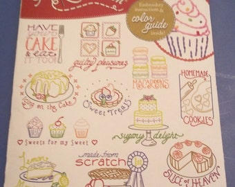 Retro Baking Cupcake Embroidery Transfer Patterns Brand New