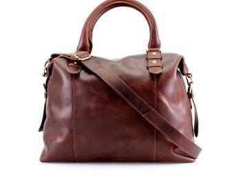Leather Purse Shoulderbag, Handbag, Vintage Brown
