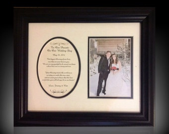 To Our Parents on Our Wedding Day Personalized Gift wedding favor Framed