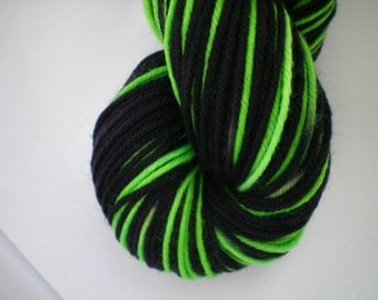 Lady Elphaba - Dyed to Order - Hand Dyed - Merino Wool Yarn - Fingering Weight