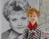 Angela Lansbury-  British Actress- Caricature Doll-  Miniature Art-  Uneek Doll Designs