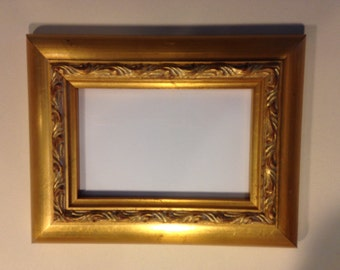 Wide Bright  Gold Picture Frame - 4 x 6""