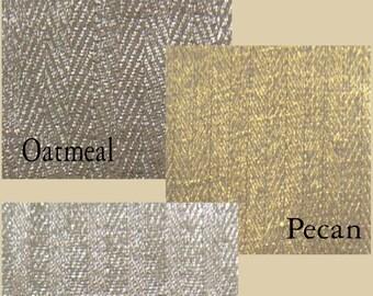 Custom Herringbone Metallic Linen Drape with Lining - You pick the color