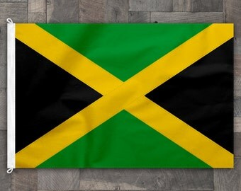 100% Cotton, Stitched Design, Flag of Jamaica, Made in USA