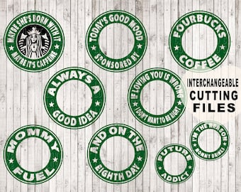interchangeable starbucks svg, coffee svg, svg files, coffee clip art, svg cutting file, coffee mug svg, coffee cup svg, starbucks clipart