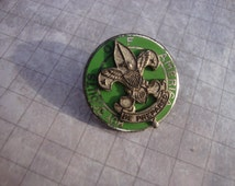 Vintage Sterling Silver Boy Scout Pin Emblem Brooch Fleur de Lis Scouting Eagle Collar Lapel Be Prepared Collectible Pin Unique gift for him