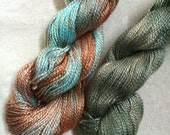 Shades of Silver Grey (Gray) and Rust, Perle 5, OOAK