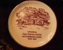 Plate/Collector/Nebraska/Vintage/ Pony Express