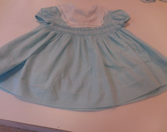 1960's Baby Dress With Smocking