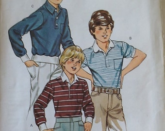 Kwik Sew Boys Shirt Pattern 1278