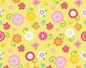 50% OFF Simply Sweet Flower Yellow - 1/2 Yard