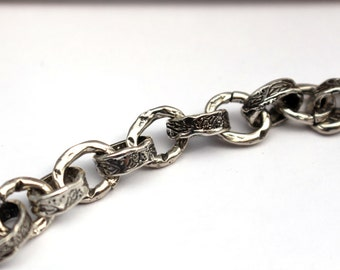 Heavy Chain Artisan Chain Oval Sterling Chain