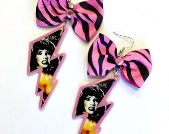 Frankenhooker Lightening Bolt Earrings