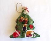 Primitive Christmas Tree Hanging Ornament or Bowl Filler